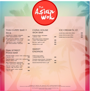 Asian Wok menu blue
